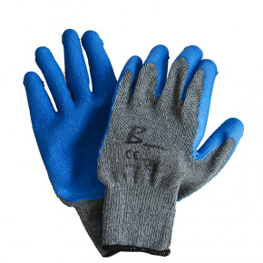 Bayaan Gripper Gloves 10g Blue Latex