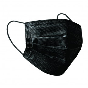 3 Ply Disposable Face Mask Black