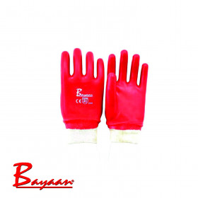 Bayaan Pvc Knit Wrist Gloves CE Approved