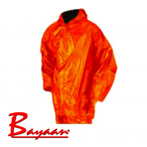 Bayaan Orange Rubberised RainSuits