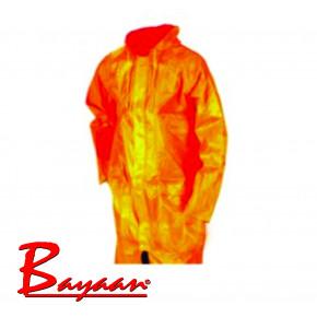 Bayaan Orange Rubberised RainCoat L