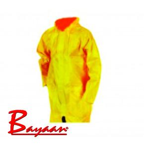 Bayaan Yellow Rubberised Rain Coat