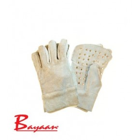 Bayaan Chrome Leather Rivetted Palm Glove