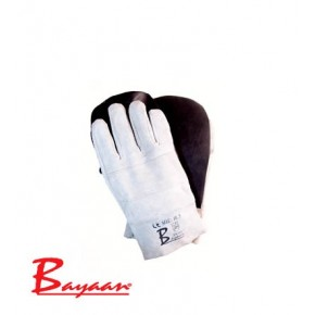 Bayaan Chrome Leather Rubber Palm Brick Gloves