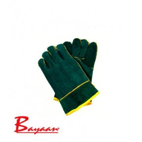 Bayaan Green Lined Wrist Welding Glove