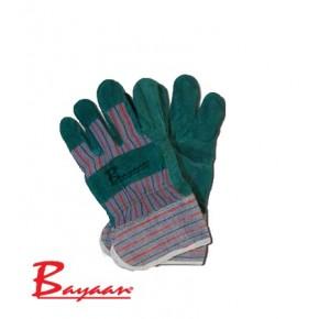 Multi Colour Chrome Leather Candy Stripe Gloves