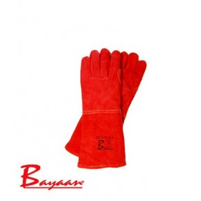 Red Heat Leather Gloves Elbow Length CE