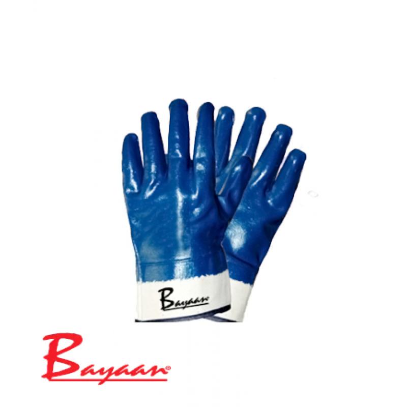 Bayaan Blue Nitrile Canvas Cuff Glove