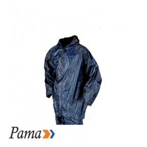 Pama Navy Rubberised Rain Suits