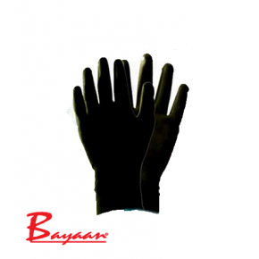 Bayaan Black Nylon Interlock Liner Knit Wrist Glove