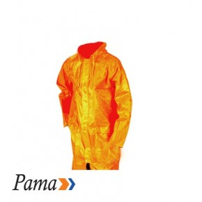 Pama Orange Rubberised RainCoat L