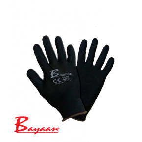 Flex Nylon Knitting with Nitrile coated Black Gloves CE Premium Quality