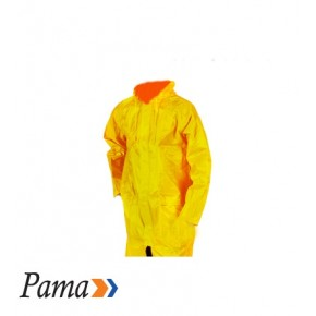 Pama Yellow Rubberised Rain Coat