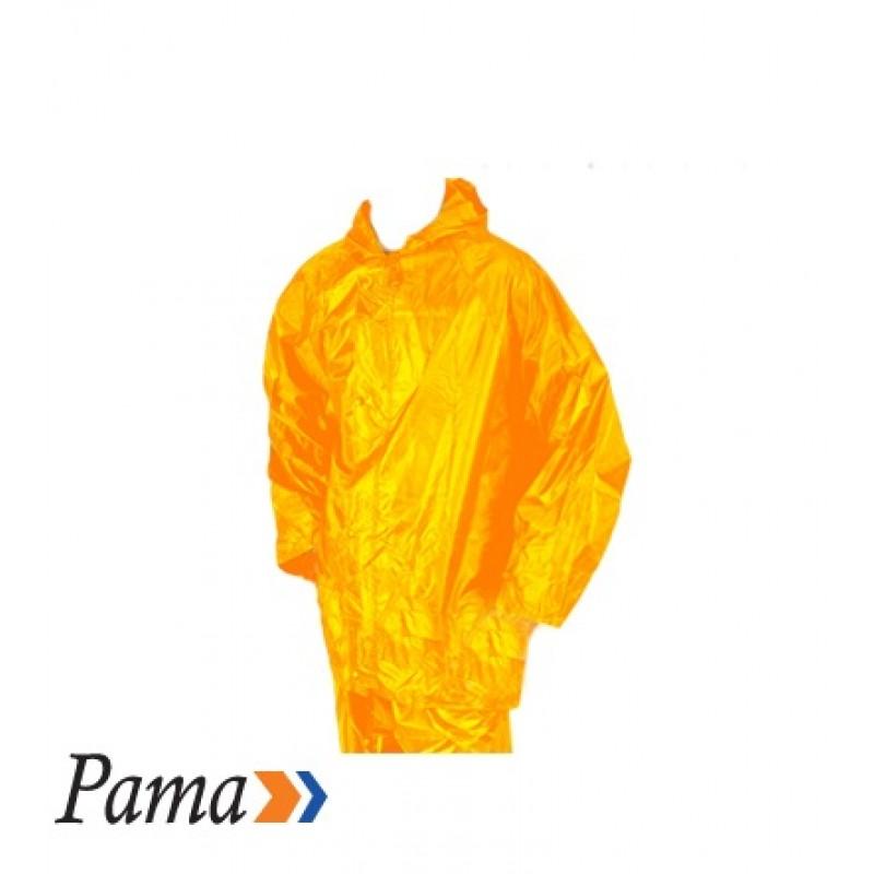 Pama Yellow Rubberised RainSuit