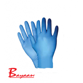 Bayaan Blue Nitrile Powder Free Examination Gloves