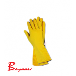 Bayaan Yellow Household Flock Lined Glove