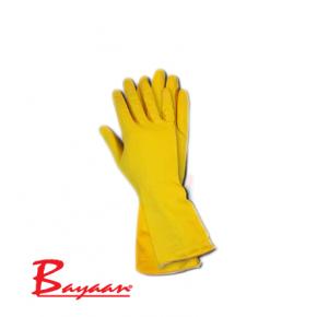 Bayaan Yellow Household Flock Lined Glove