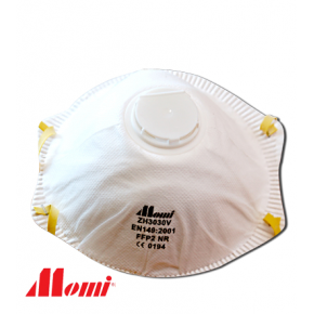 Momi Premium FFP2V with Valve Dust Mask
