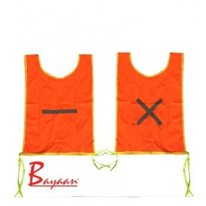 Orange Day Glow Mini Bib