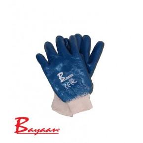 Bayaan Blue Nitrile Knit Wrist Size 10