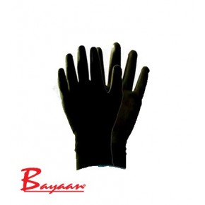 Bayaan Black PU Nylon Liner Wrist Glove