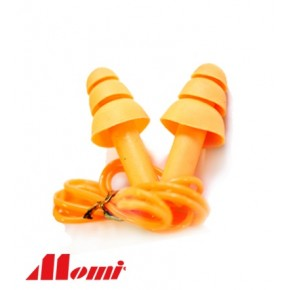 Momi Orange Reusable Corded Ear Plug