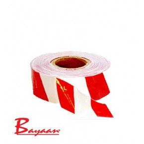 Barrier Tape Red & White 100M