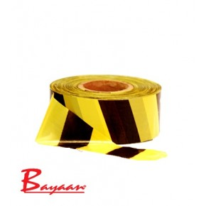 Barrier Tape Yellow & Black 500M