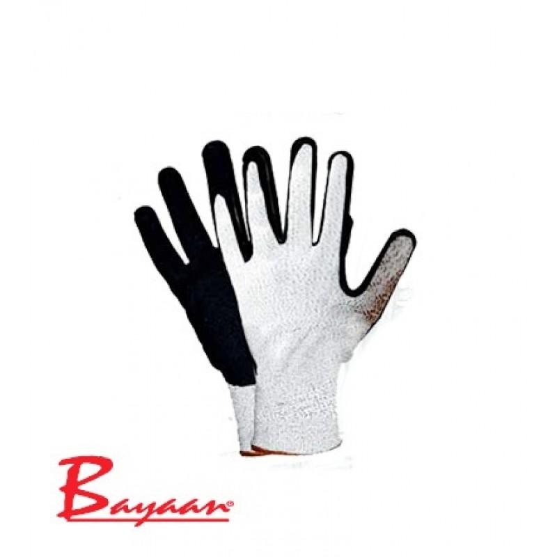 Bayaan Nitrile PU Sand Finish Cut Level 5 Gloves