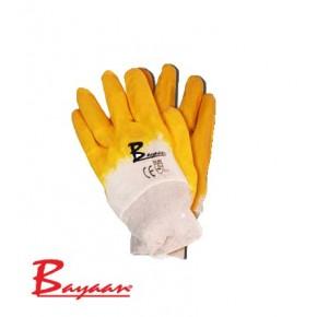 Bayaan Yellow Nitrile Knit Wrist glove size10